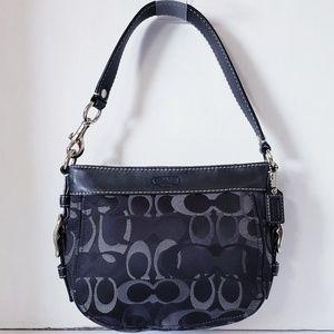 COACH F44109 Black Zoe Optic Signature Bag